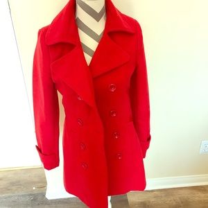 Darling Red winter coat, sz med by forever 21.